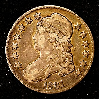 1831 ~**HIGHER GRADE**~ Silver Capped Bust Half Dollar Antique US Old Coin! #K39