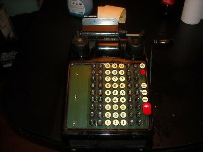 BURROUGHS PORTABLE 1920s ADDING MACHINE made in detroit ACCOUNTING parts restore