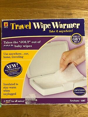 DEX Travel Wipe Warmer with Home & Car Adapters - BOX NOT PERFECT