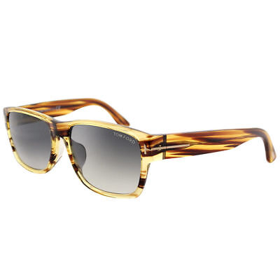 b5624462d8 Tom Ford Mason TF0445 50B Dark Brown Striated Plastic Sunglasses Grey  Gradient