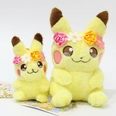 NEW!! Pokemon Center [Pikachu & Eievui's Easter] Plush Doll Pikachu Child Toy