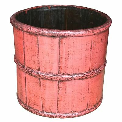 Antique Pink Painted Decoration Water Bucket (24-074)