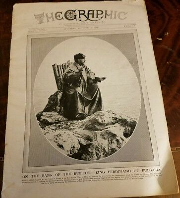 Antique 1915 The Graphic Illustrated Weekly Newspaper
