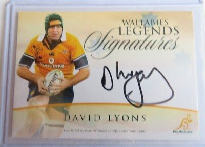 2016 Tap N Play Rugby Wallabies Legend Auto Card #65/150 - David Lyons