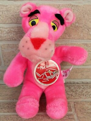 """Vintage Pink Panther 10"""" Plush Stuffed Animal 1988 United Artists Mighty Star"""