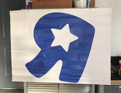 "3 Toys R Us ""R"" Display Banner 35 X 48"" - RARE"