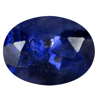 0.82 ct AAA Eye-opening Oval Shape (7 x 5 mm) Blue Iolite Natural Gemstone