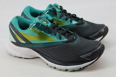 af9f856ed2d Brooks Launch 4 Women s Anthracite Ceramic Lime Road-Running Shoes 7.5M
