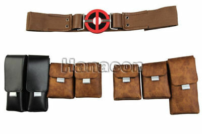 Deadpool 2 Superhero Cosplay Halloween Men Hot Props Belt Costum Ball Accessory