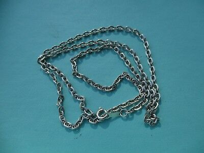 Vintage sterling silver chain oval link 2.2mm wide chain 20inches long