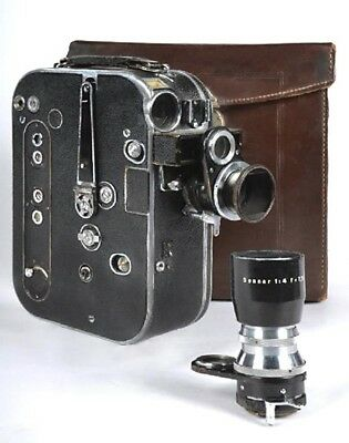 Vintage Zeiss Ikon MOVIKON 16mm movie camera with two lenses