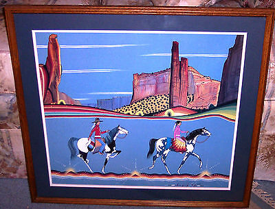 Justin Tso Painting Going To A Ceremony Signed Print& COA Navajo Native American