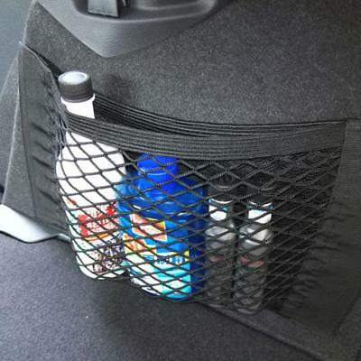 Car Back Rear Trunk Seat Elastic String Net Mesh Storage Bag Pocket Cages Black