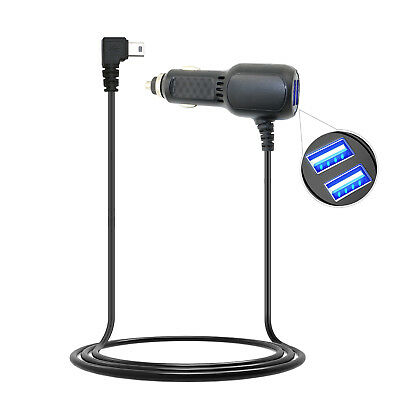 2 USB Ports Car Charger Cable Cord for Garmin Nuvi 255 255W 260 270 GPS