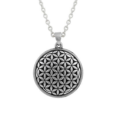 Ancient Amulet Kabbalah Symbol Flower of Life Charm Spiritual Blessing Necklace