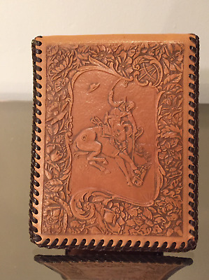 1950s Brown & Bigelow Mission Leather Cowboy Wallet Chas. Ward Ranches AZ