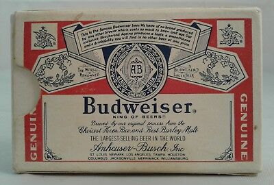 Very Old Budweiser Playing Cards Complete Deck With 1 Busch Gardens Joker