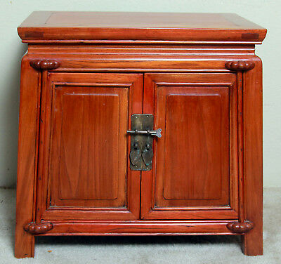 chinese antique tapered side cabinet