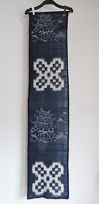 Japanese Blue Aizome Vintage cloth 50 years ago : designed Castle and the others