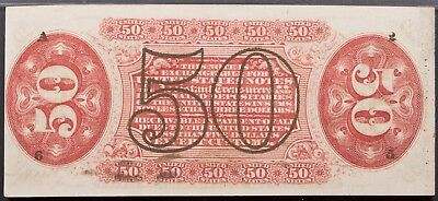 Fr 1328 50c 3RD Issue  Hand Signed Red Back Fractional PMG AU 55