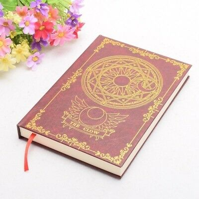 1pc Clow Card Pattern Magic Notebook Anime Cardcaptor Sakura Collections Gifts