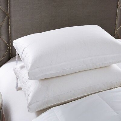 Twin Pack White Goose Down Feather Standard Pillow with Pure Cotton Cover