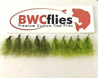 BWCflies Weed Fly 10pk ( 5 Olive & 5 Bright)