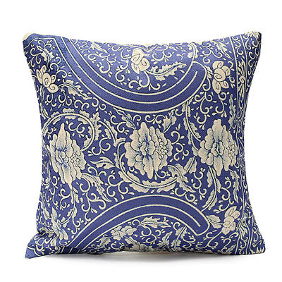 Vintage Geometric Case Cushion Cover Home Decor, #38 Chinese Blue Floral W2X8
