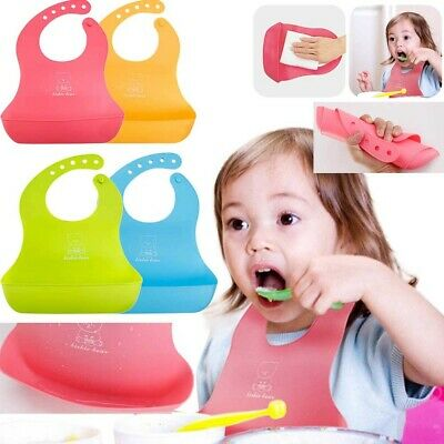 Ear Waterproof Cute Silicone Bibs for Babies & Toddlers by Panda Soft Unisex