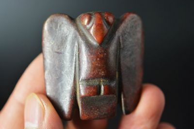 Chinese Hongshan Culture old Jade Carved *Cicada* Amulet Pendant    E74