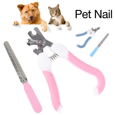 Pet Dog Cat Rabbit Nail Clippers File Shears Grooming Trimmer Scissors Small