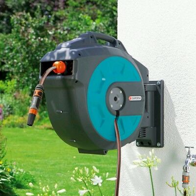 Gardena Wall-Mounted 114.8ft (35m) Hose Box with Automatic Roll-Up
