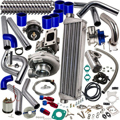 T04E Turbo Charger Kit+ WASTEGATE + INTERCOOLER + BOV For Nissan Patrol Y60 Y61