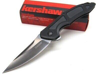 Kershaw Black Method Straight Blackwash Folding Pocket Knife KE1170