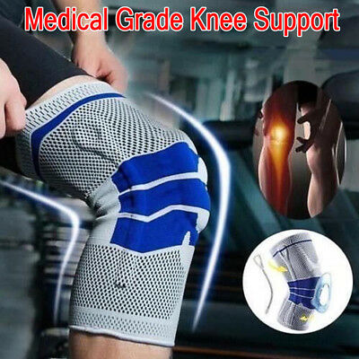 1 x Padded Compression Knee Support Sleeve Bandage Strain/Sprain Injury Running