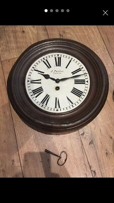Vintage Wind Up Wall Clock Circa Approx 1890-1900
