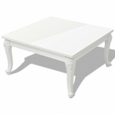 Vintage Wooden Coffee Table Large White French Chic Side End Tables Furniture