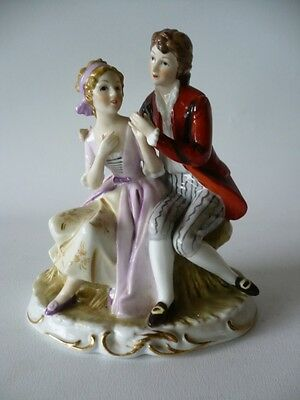 Vintage  French Romance  Couple Porcelain  Figurine