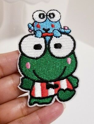Keroppi Frog Embroidery Iron PATCH Sew On Patch Kero Keroppi CUTE Frog