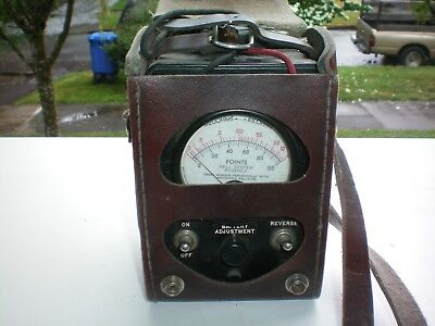 .Vintage KS-8455 L2 Bell System Ohm Test Meter  w / leather case/ leads
