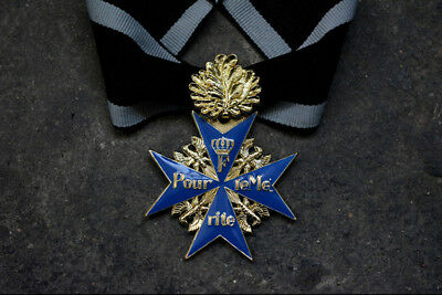 WW1 Repro German BLUE MAX MEDAL Pour Le Merite Award Military Order -Oak leaves