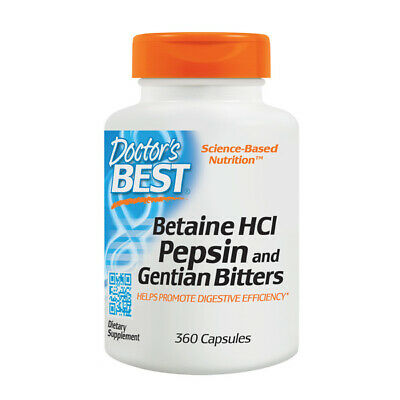 Betaine HCl Pepsin & Gentian Bitters, 360 Capsules - Doctors Best - Digestion