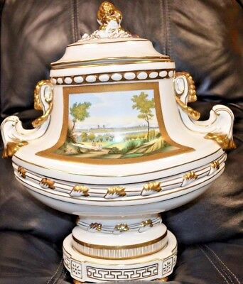 Chelsea House Hand Painted 3 Piece Urn