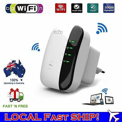 300Mbps WiFi Repeater AU Plug Wireless Router Range Extender Signal Booster AUC