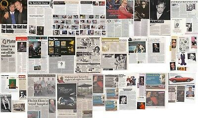 ELTON JOHN : CUTTINGS COLLECTION -adverts- clippings