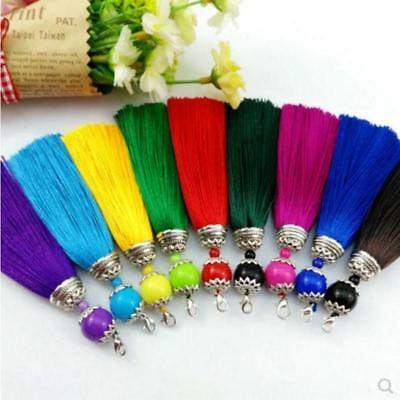 V12 (1,10 pcs) 11cm Long tassel   Ball   (use for earring bookmark runner dress)