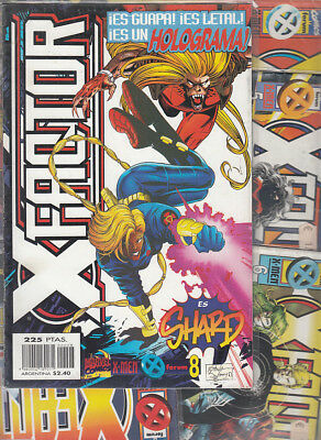 X-FACTOR  VOL.2 .Nºs  5. 6. 7 .8 .9.   ( LOTE 5 NUMEROS ) EDITORIAL  FORUM.