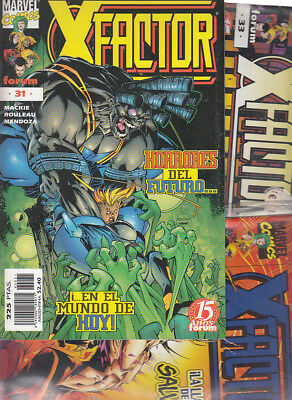 X-FACTOR  VOL.2 .Nºs 31. 32. 33. 35.     ( LOTE 4  NUMEROS ) EDITORIAL  FORUM.