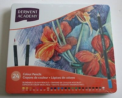 Derwent Academy 24 Colour Pencils New and Sealed