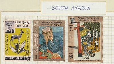 SOUTH ARABIA Collection Airmail Kathiri State Dr Gachet etc USED as per scan #